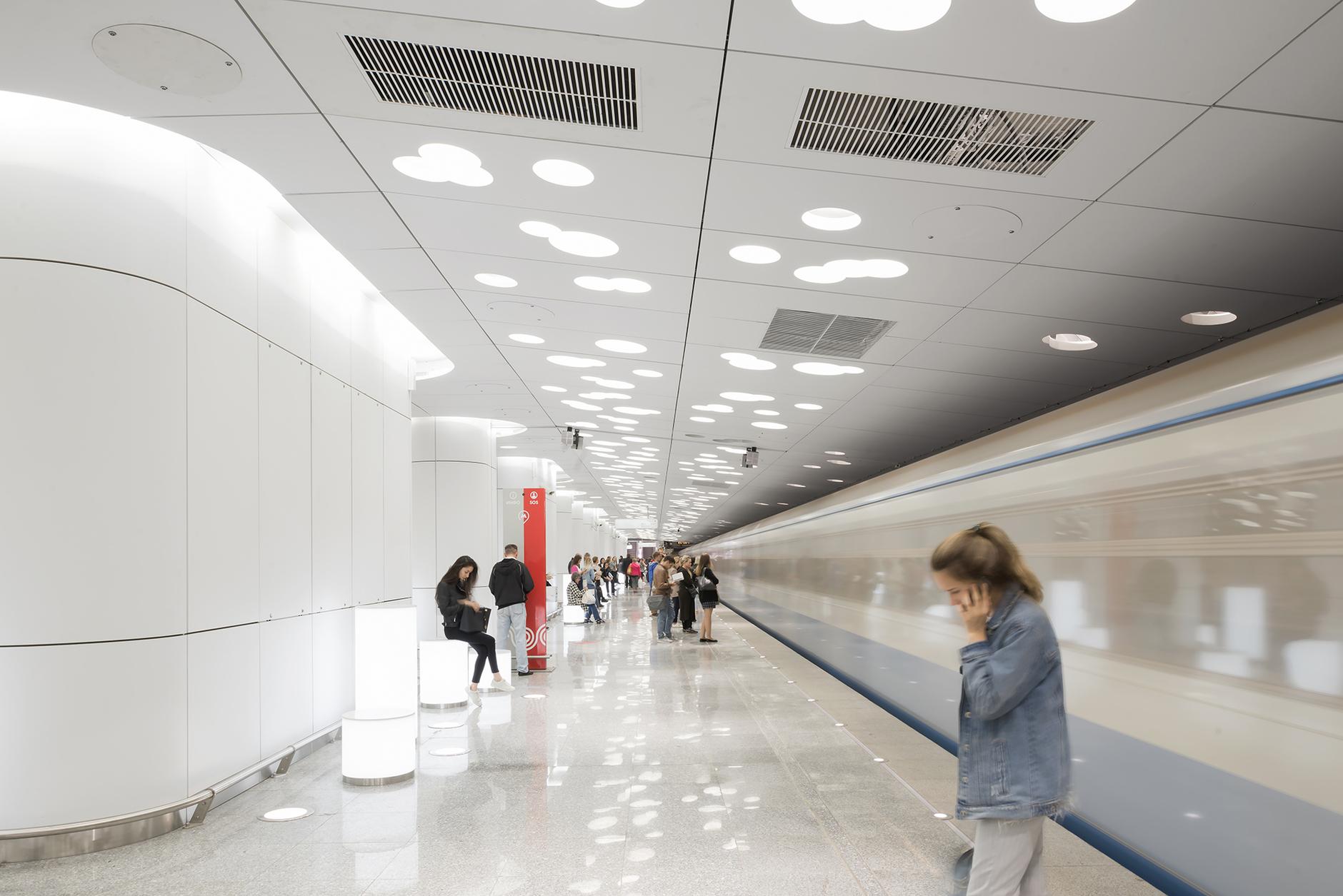 Пусть всегда будет солнце! Станция метро «Солнцево» по проекту Nefa Architects (галерея 7, фото 4)