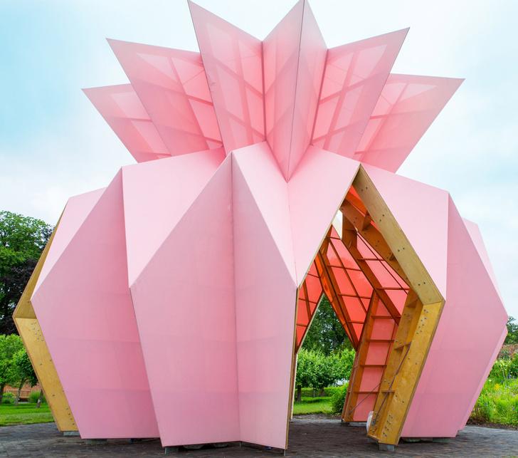 Розовый павильон от Studio Morison в усадьбе Беррингтон-Хилл