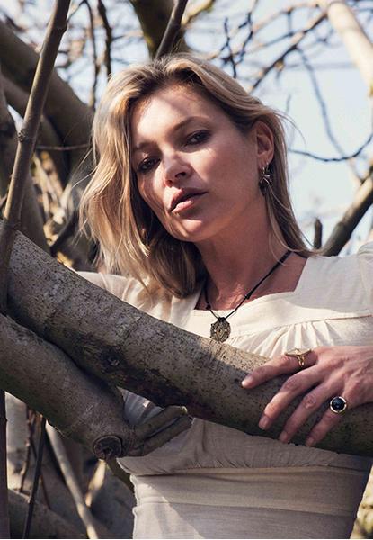 Кейт Мосс в откровенной съемке для собственной коллекции украшений | галерея [1] фото [2]