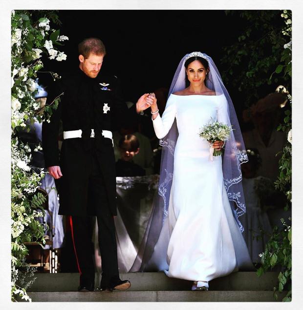 Чистота и простота: дизайнер, создававшая подвенечное платье Меган Маркл, опубликовала неизвестные снимки свадебной церемонии (фото 3)