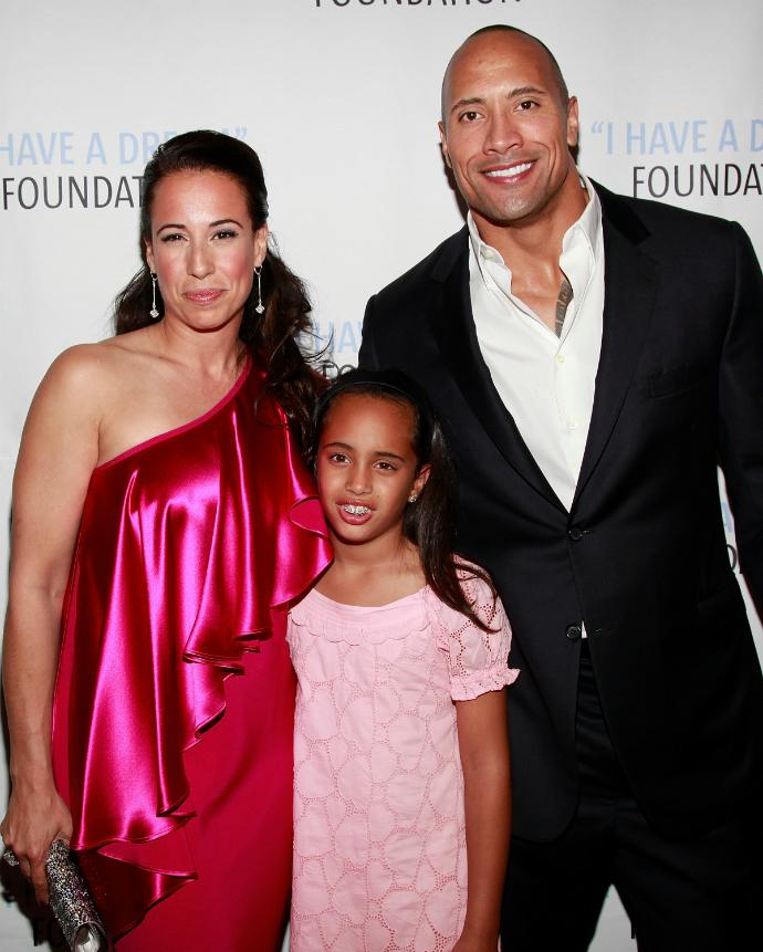 Дуэйн Джонсон с дочерью и бывшей женой Дэни Гарсиа