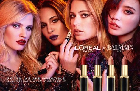 Даутцен Крез и другие модели в рекламной кампании L'Oreal Paris Х Balmain | галерея [1] фото [2]