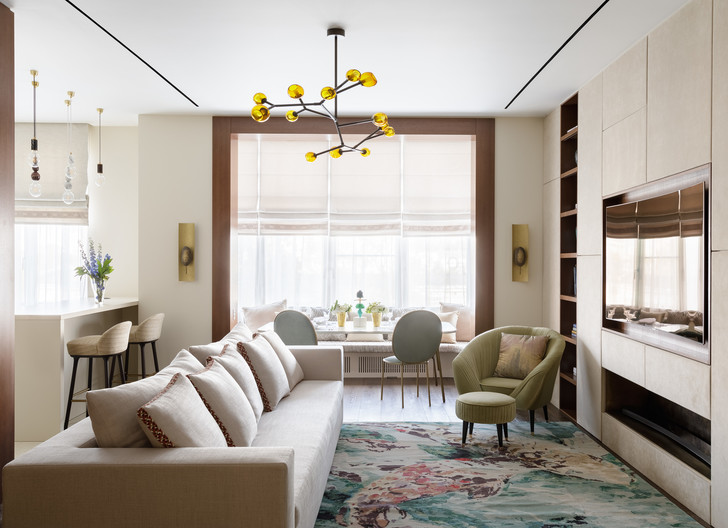 Светлая квартира 140 м² для семьи перфекционистов (фото 0)