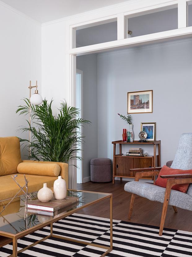 Квартира 55 м² с элементами советской эпохи (фото 0)