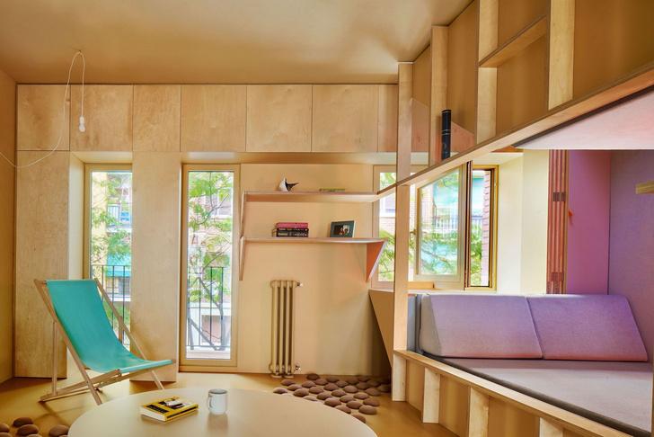 Квартира 46 м²для молодого врача и его бульдога в Мадриде (фото 2)