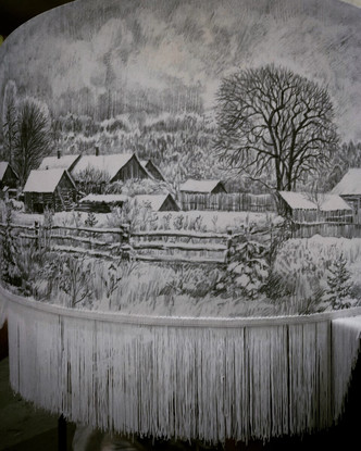 Русский пейзаж: картины на абажурах Екатерины Уткиной (фото 8.2)