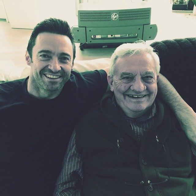 Хью Джекман и его папа: фото 2015