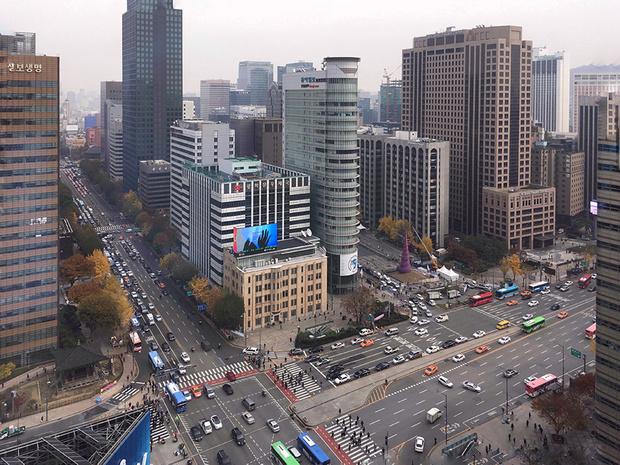 Вид из номера Four Seasons Seoul Корея пластика корея пластическая хирургия корея косметика