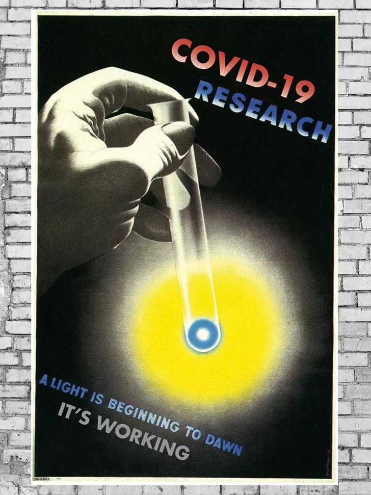 Дизайнеры против коронавируса: винтажные плакаты (фото 0)