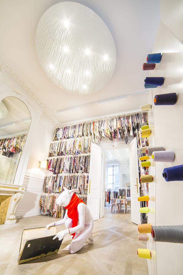дизайн интерьера, текстиль, ткани, шоу-рум, Париж, Поль Кудами