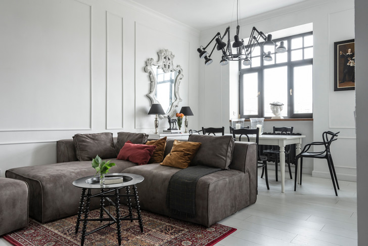Эклектичный интерьер квартиры в Екатеринбурге (фото 3)