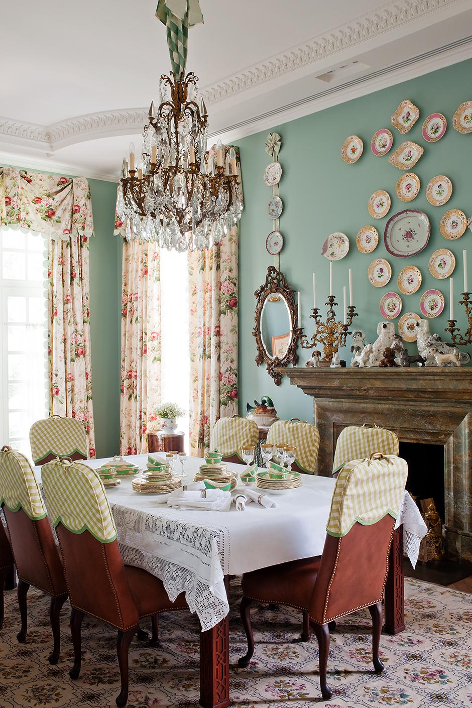 Обои в цветочек в столовой: 25+ вдохновляющих примеров (галерея 1, фото 3)