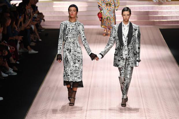 В духе Met Gala: звездопад на показе Dolce&Gabbana (фото 11)