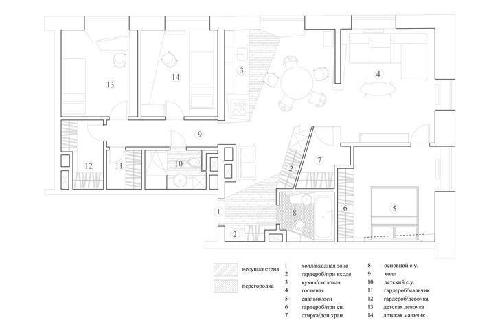 Квартира 110 м²: проект Максима Кашина (фото 18)