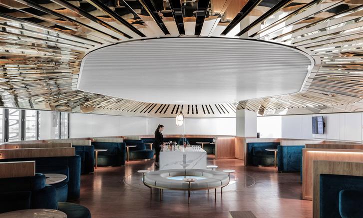 Бизнес-лаундж по проекту Матье Леаннера в Шарль-де-Голле (фото 0)