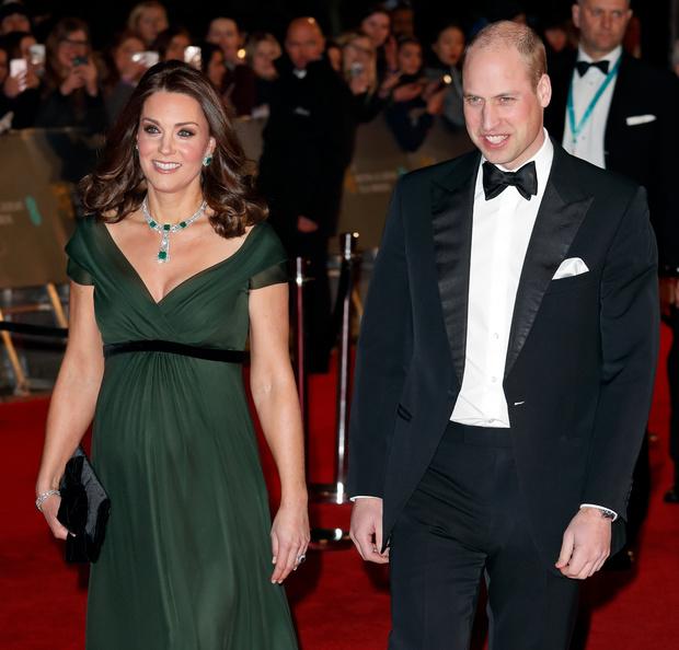 Кейт Миддлтон и принц Уильям bafta 2018 фото