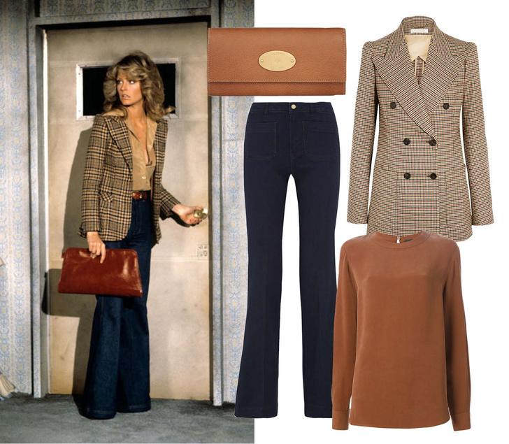 Выбор ELLE: блейзер Chloe, блуза Joseph, джинсы Michael by Michael Kors, клатч Mulberry
