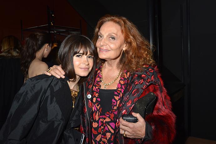 Miroslava Duma and Diane de Furstenberg attend the Jeanne Lanvin Retrospective March 6, 2015