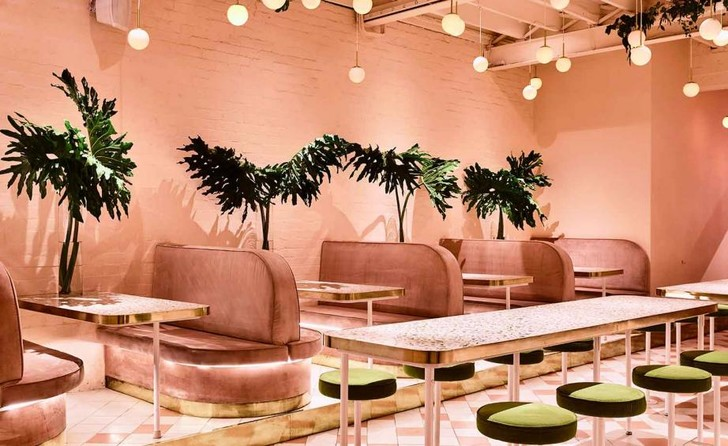 Розовый бар Peaches в Мельбурне (фото 3)