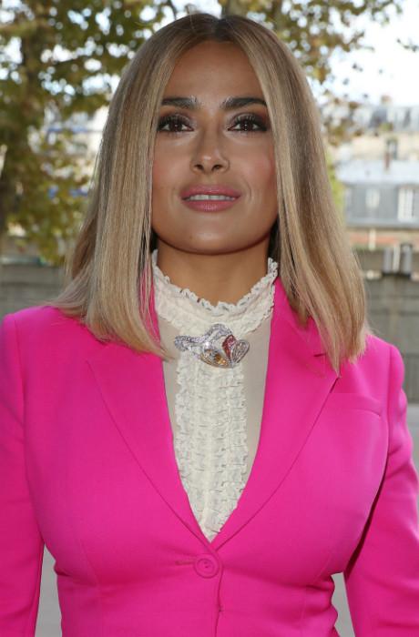 Блондинка в законе: Сальма Хайек на один день сменила цвет волос