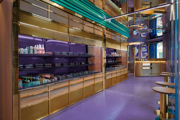 Фиолетовый суши-бар Kento в Валенсии (фото 5)