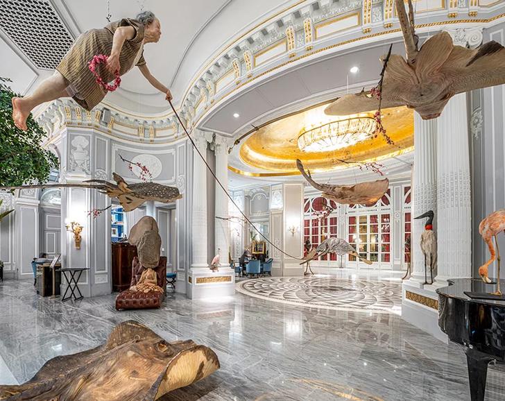 Выставка Сунь Юаня и Пэн Юя в отеле St. Regis в Риме (фото 5)