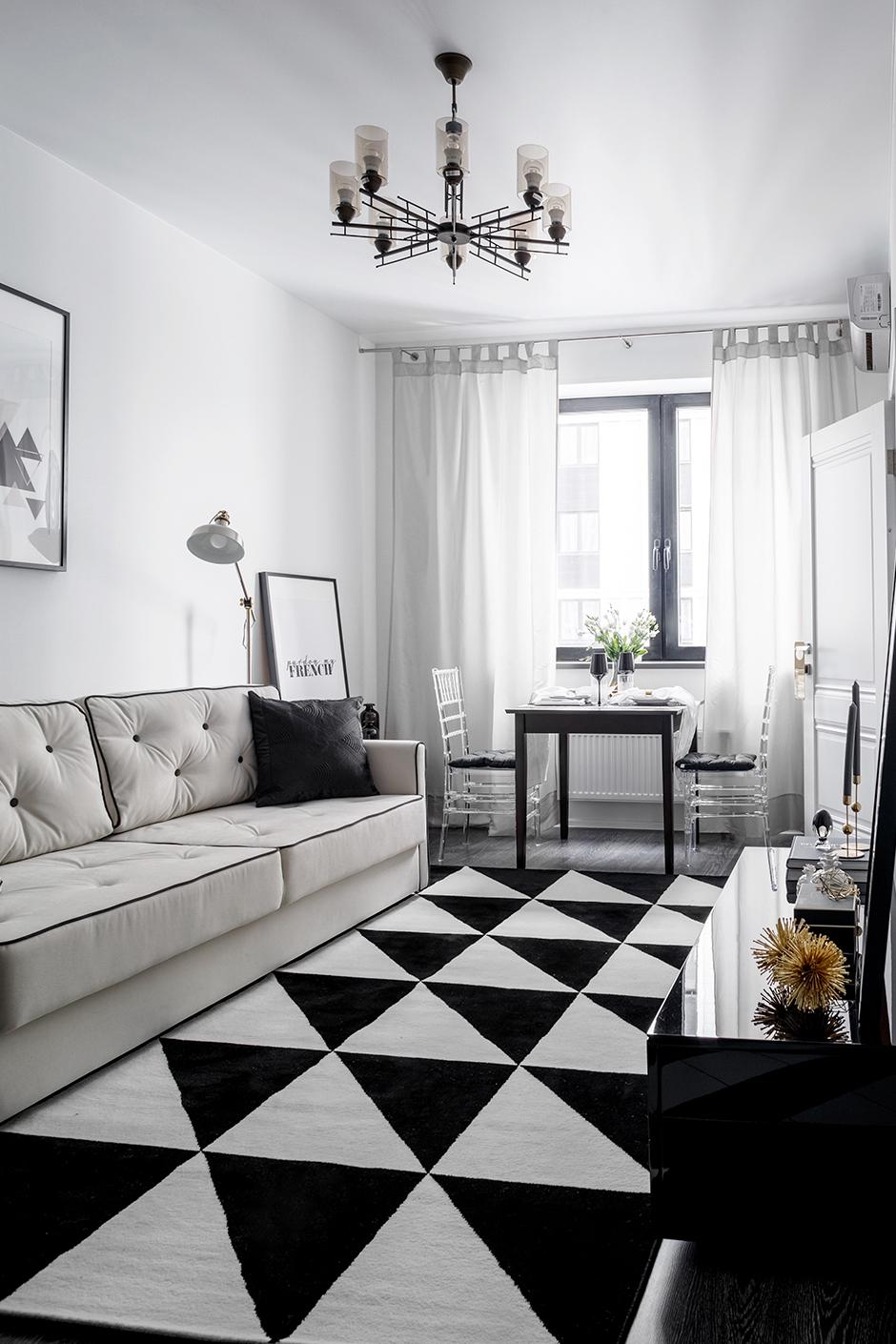 Черно-белые интерьеры: 30+ вдохновляющих примеров (галерея 1, фото 1)