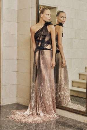 Показ Atelier Versace коллекции сезона Весна-лето  2017 года Haute couture - www.elle.ru - Подиум - фото 616876