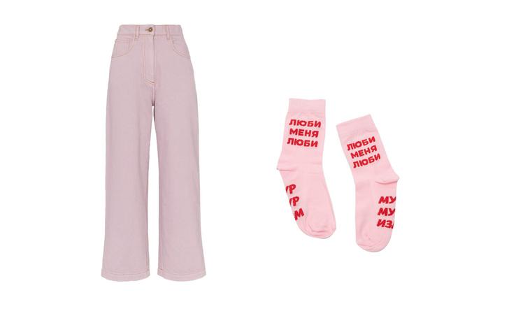 Джинсы + высокие носки: тренд для непогоды (фото 9)