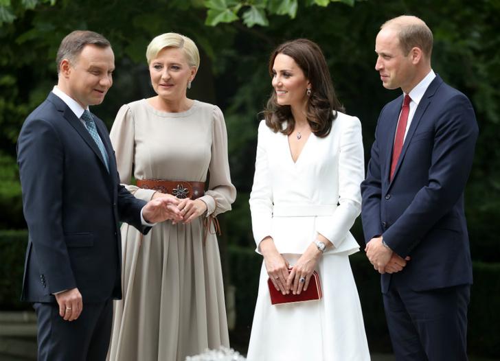 Принц Уильям, Кейт Миддлтон и Анджей и Агата Дуда