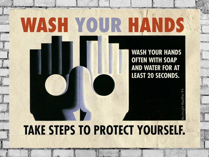 Дизайнеры против коронавируса: серия винтажных плакатов (фото 0)