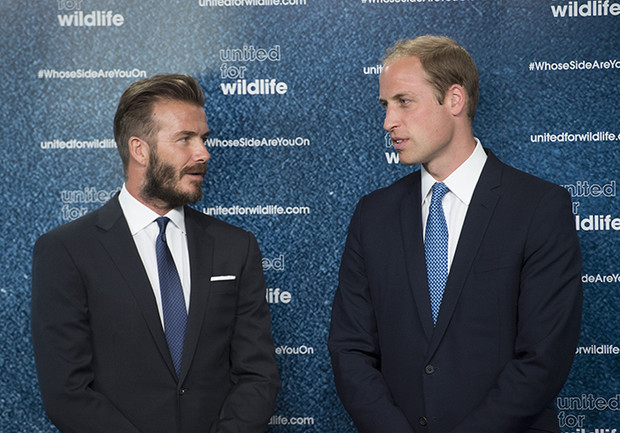 Дэвид Бекхэм и принц Уильям фото
