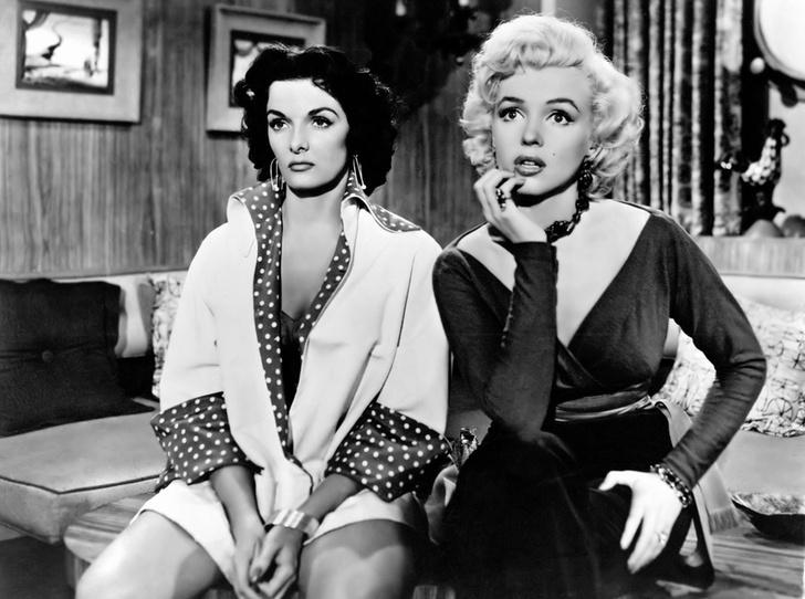 Джейн Рассел и Мэрилин Монро («Джентльмены предпочитают блондинок»)