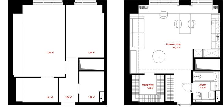 Первый план: все, что нужно знать о планировке маленьких квартир (фото 35)