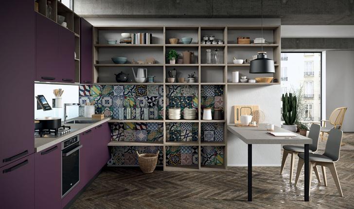 """Топ-7: Новая кухня Aran Cucine и другие предметы в цвете """"баклажан"""" (фото 1)"""