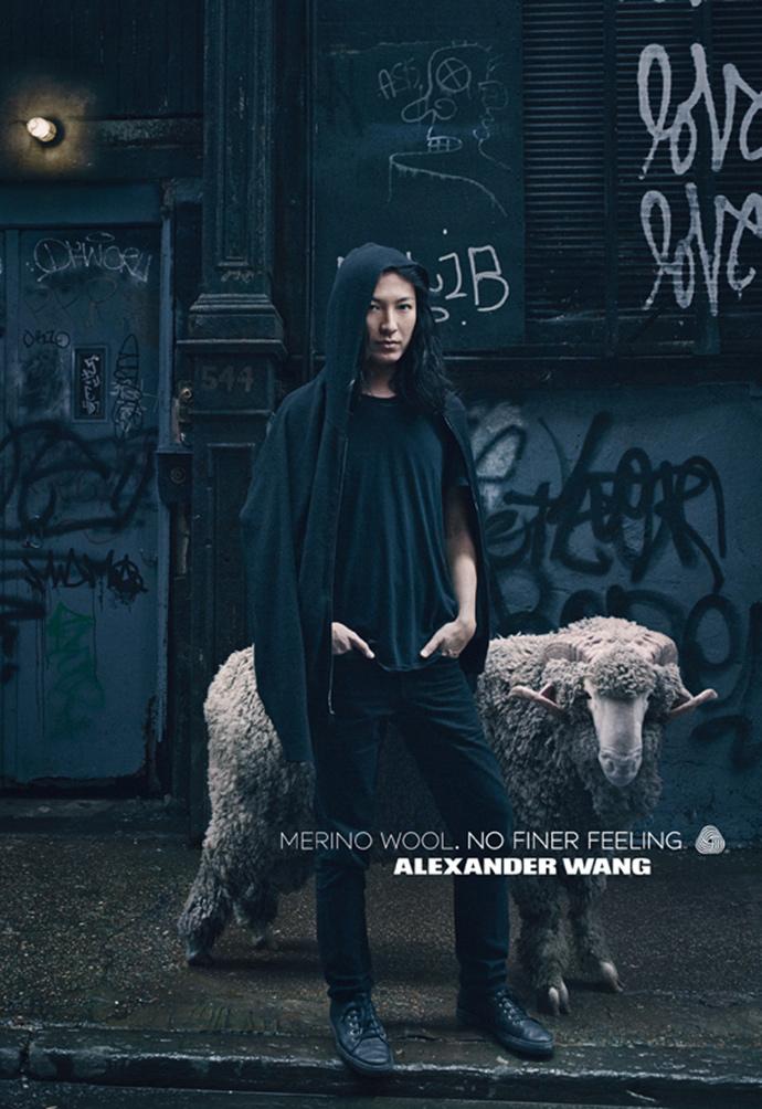 Александр Вэнг в рекламной кампании Woolmark