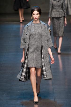 Показ Dolce & Gabbana коллекции сезона Осень-зима 2013-2014 года Prêt-à-porter - www.elle.ru - Подиум - фото 524910