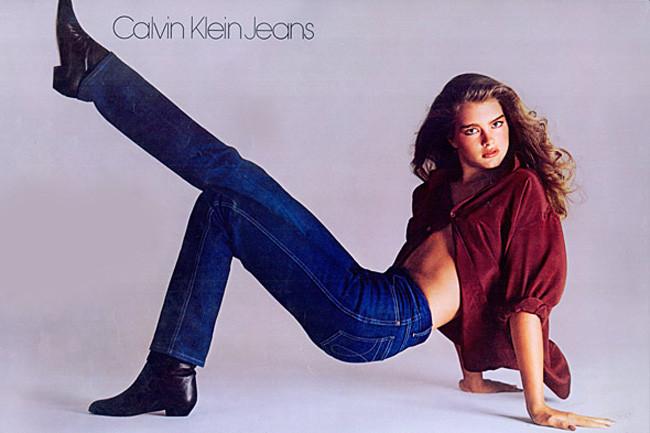 Брук Шилдс в рекламной кампании Calvin Klein Jeans