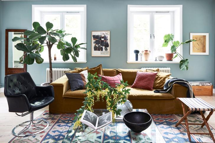 Скандинавский голубой: дом стилиста Софии Вуд (фото 0)