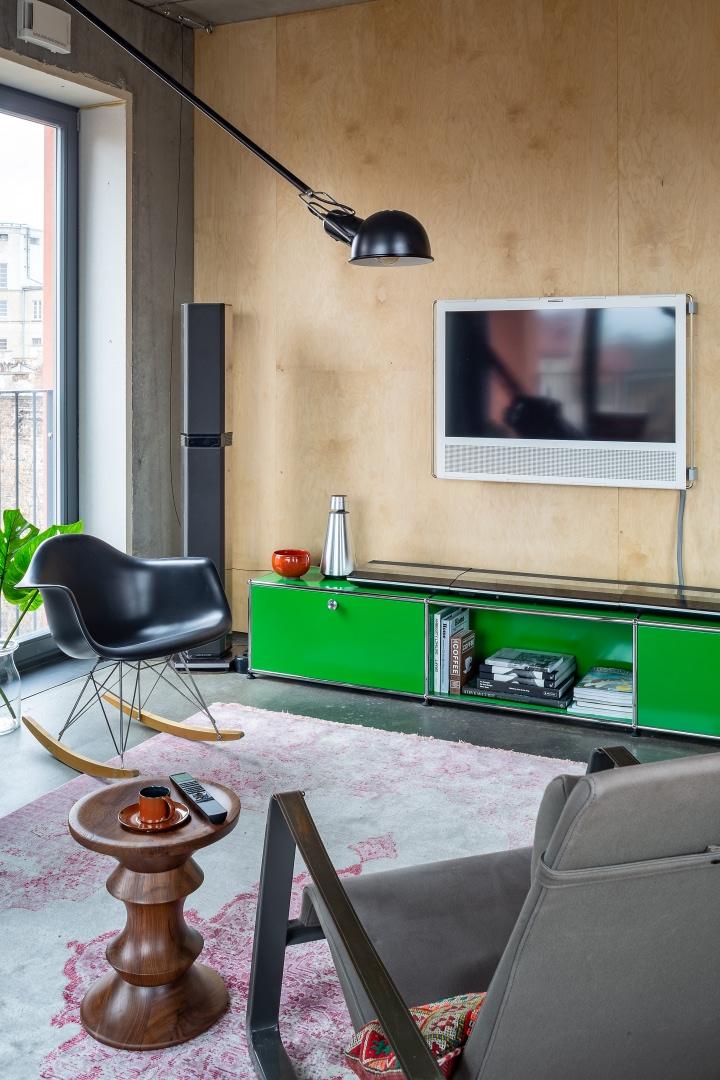 Бетонная квартира 55 м² архитектора Пшемо Лукашика в Варшаве (фото 2)