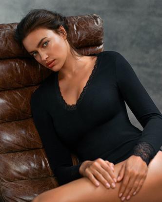 Ирина Шейк в новой съемке для Intimissimi фото [8]