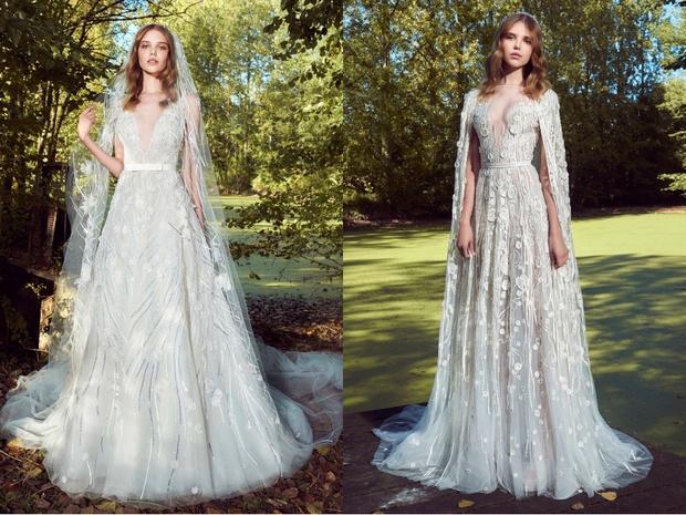 Перья и кружево: новая свадебная коллекция Zuhair Murad (фото 8)
