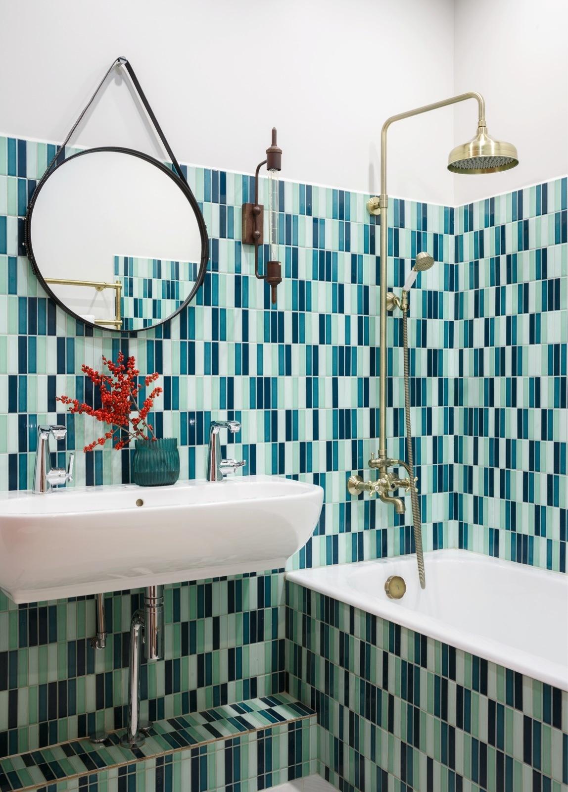 плитка в ванной (галерея 0, фото 1)