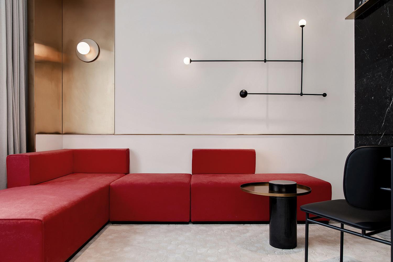 Красный цвет в интерьере: (галерея 0, фото 13)