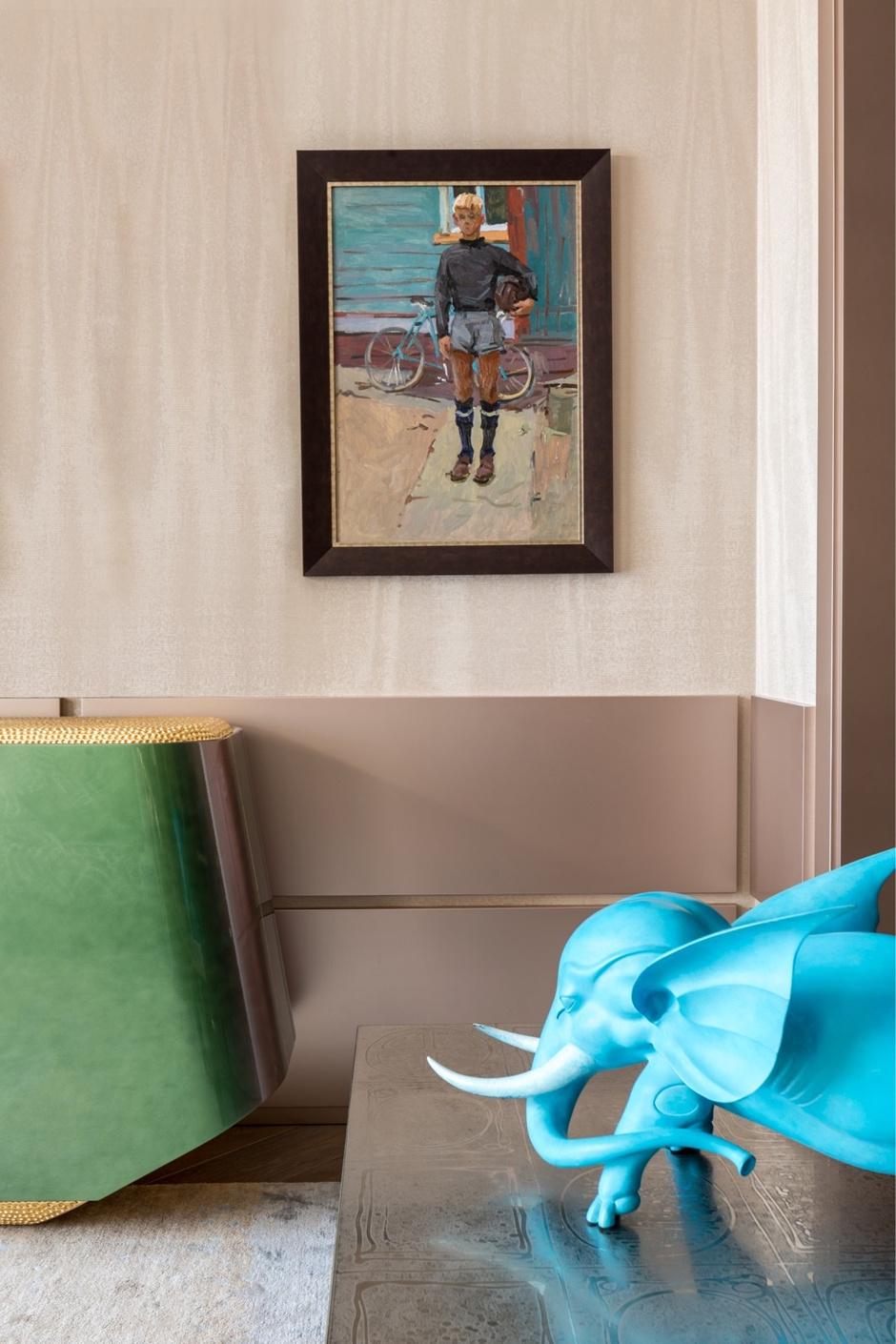 Золото на голубом: квартира 90 м² в Петербурге (фото 5)