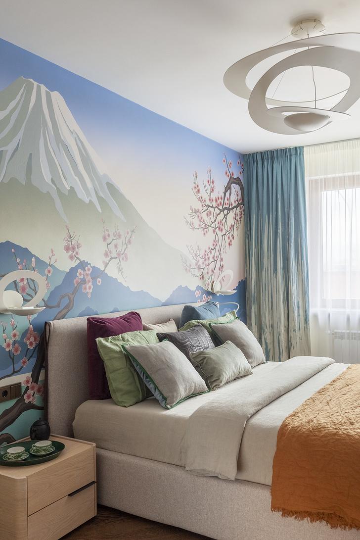 Московская квартира 110 м² с настенной росписью (фото 11)
