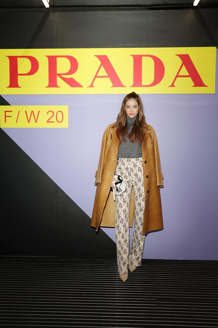 Барбара Палвин, Джильда Амбросио, Кьяра Ферраньи и другие гости показа Prada Menswear Fashion Week (фото 1)