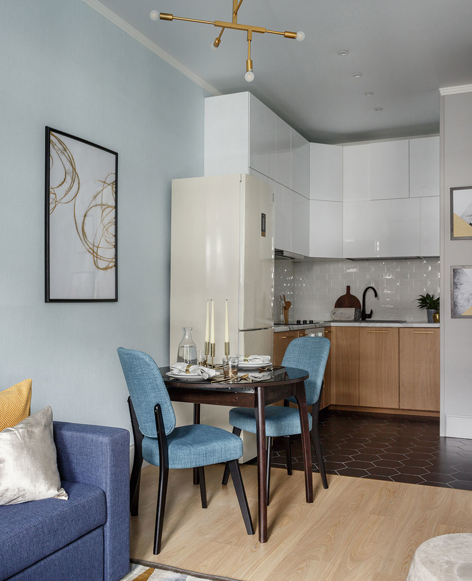 35 проектов кухонь в маленьких квартирах (галерея 0, фото 1)