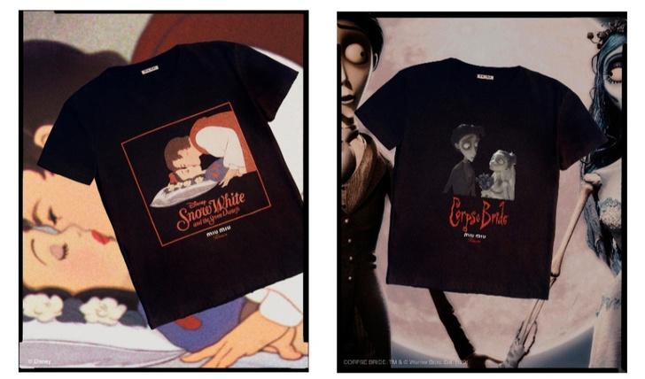 Места для поцелуев: Miu Miu выпустила коллекцию футболок с кадрами из культовых фильмов (фото 4)