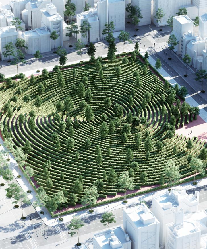 Проект парка-лабиринта Parc de la Distance (фото 2)